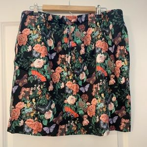 Hanna Andersson floral butterfly skirt XL